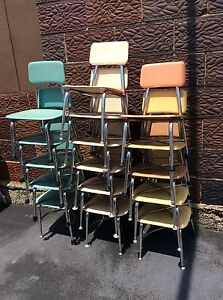 16 Vtg Heywood Wakefield Child Size School Chairs Many Colors Very Good