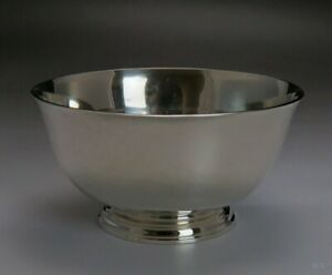 1938 1957 Arthur Stone Associates Handwrought Sterling Silver Revere Bowl Dish