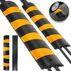 2pcs Modular Rubber Speed Bumps Electric Traffic Control Parking Lot Speed Hump
