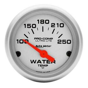 Auto Meter 4337 Ultra Lite Electric Water Temperature Gauge Temp 100 250 Deg