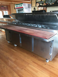 Used Pizza Prep Cooler Custom Kairak Cooler 93 Inch Good Working Condition