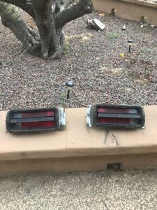 1970 1971 Plymouth Duster Taillight Pair Nice Shape