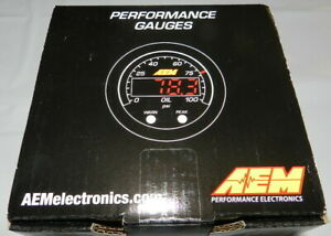 Aem 30 0301 X Series Oil Fuel Pressure Gauge 0 100 Psi