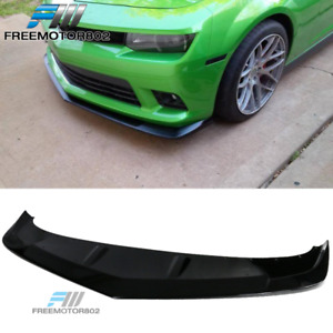 Fits 14 15 Chevrolet Camaro A Style Front Bumper Lip Gloss Black Pp