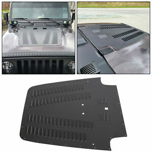 Aluminum Vented Hood Louver Black Powdercoat For 03 06 Jeep Wrangler Tj Lj