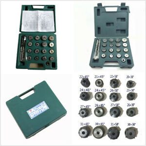 20 Pcs Valve Seat Reamer Repair Displacement Cutter Valve Tool Set Kit For Honda