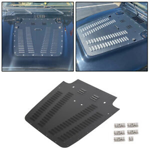 97 02 Vented Hood Louver Aluminum Black Powder Coated For Jeep Wrangler Tj