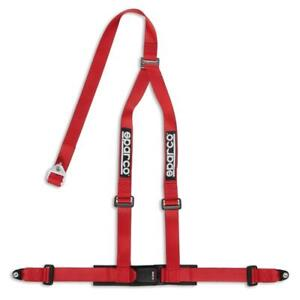 Sparco Racing Seat Belt Safety Harness Street Tuner Red 2 Inch 3 Point Bolt In