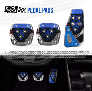 Sports Racing Accelerator Car Blue Brake Pedal Pads Covers Universal Manual