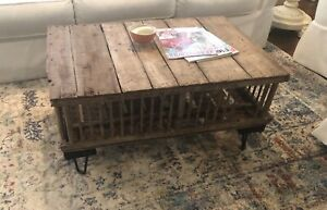 Authentic Vintage Chicken Coop Upcycled To A Primitive Style Coffee Table