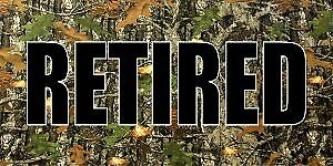 Retired On Camo Photo License Plate