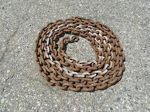 1 2 Inch Link Chain Logging Barn 20 Feet No Ends