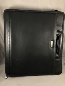 Franklin Covey Monarch 1 5 Rings Black Leather Planner Handles Calculator