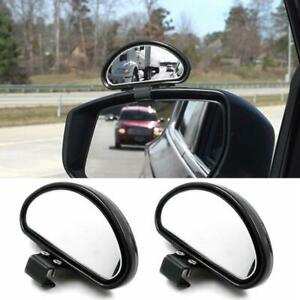 Pair Clip On Rear View Convex Car Parking Wide Angle Auxiliary Blind Spot Mirror