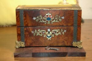 Antique French Tea Caddy Georgian Era 1780 Working Key