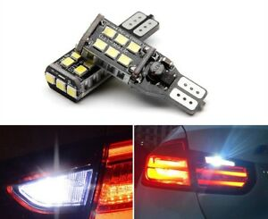 Total 1600lm 2 Pieces Error Free White 921 T15 Led Reverse Backup Light Bulbs