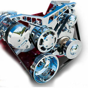 March Performance 21225 06 Pro Track Serpentine Drive Kit Big Block Chevy Chrome