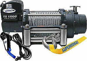 Superwinch 1513200 Tiger Shark 13500 12v Series Winch 5 3 Hp Motor Rated Line Pu
