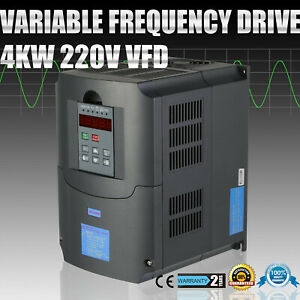 5hp 4kw Variable Frequency Drive Vfd Pid Control Spwm Vsd 4000w High Reputation