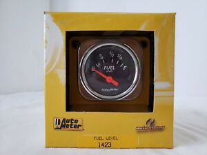 Nos Auto Meter Fuel Level Gauge 1423 Made In Usa