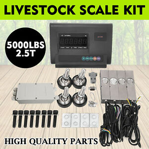 5000lbs Livestock Scale Kit For Animal Floor Scale Agriculture Pallet Scale