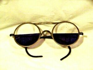 Vtg Welding Glasses Unique Steampunk John Lennon Style Vgc