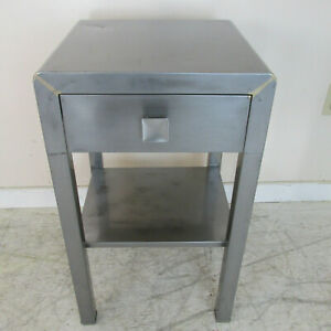 1930s Polished Steel End Table By Norman Bel Geddes For Simmons Furniture Co