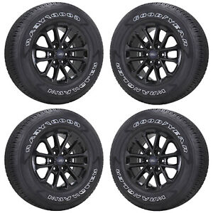 18 Ford F150 Truck Gloss Black Wheels Rims Tires Factory Oem Set 4 10169