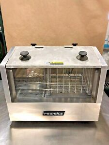 Roundup Hot Dog Hutch Hdh 3 120v Stainless Steel Works Great