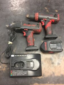 Snap on 18v Nicad 13mm 1 2 Drill driver And Impact Combo