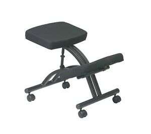 Office Star Ergonomically Designed Knee Chair With Casters Memory Foam And B