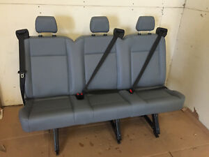 2015 2016 Ford Transit Van 3 Person Couch Bench Seat Gray Vinil Inv 3