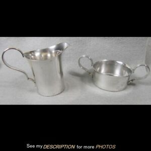 J Hasselbring Mid Century Modern Sterling Silver Sugar And Creamer