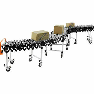6 2 To 24 8 Portable Flexible Expandable Conveyor Steel Skate Wheels 175