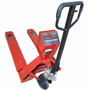 Optima 918 Series Pallet Jack Digital Scale 5 000lb X 1lb With Built in Printer