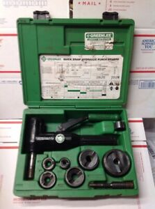 Nice Greenlee 7906sb Quick Draw 90 Driver Hydraulic Punch Kit Tested 7126