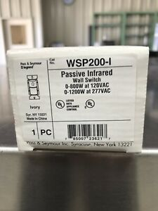 Pass Seymour Wsp200 i Passive Infrared Wall Switch 800w 120v 1200w 277v
