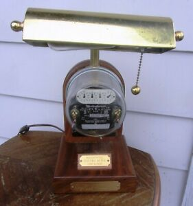 Operating Electric Watt Hour Meter Lamp Antique Vintage 1920s Deluxe Model