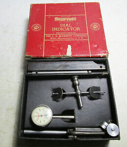 Starrett 196a Dial Indicator Kit With Mounting Attachments Back Plunger