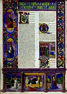 Bible Of Borso D Este Illuminated Manuscript Accents In Gold New