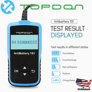 Topdon 12v Auto Car Battery Testers System Diagnostic Analyzer Charger Test Tool