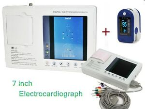 Electrocardiograph Digital 3 channel 12 Lead Ecg ekg Machine Gift Fda Ce usa