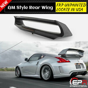 For 2009 Nissan 370z Z34 Amus Style Frp Rear Wing Spoiler with Brake Lights