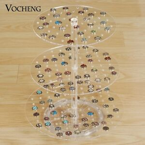 Acrylic Displays Stand Vocheng Three Layers Detachable For Snap Charms Nn 476