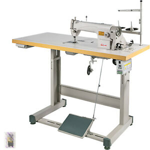 Ddl 8700 Sewing Machine With Table Servo Motor Stand Industrial 550w Manual