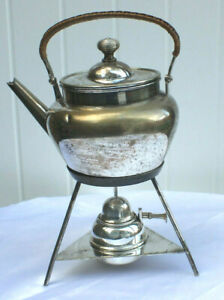 Vintage Silver Plated 2 Pint Kettle Teapot Stand And Burner