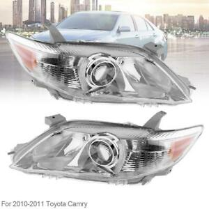 Headlights Headlamps Left Right Pair Set Fit For 2010 2011 Toyota Camry Usa