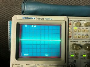 Tektronix 2465b Analog Oscilloscope 4 Channel 400mhz fff 3 Probes