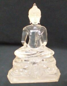 Antique Clear Chinese Buddha Figurine Statue 8 5