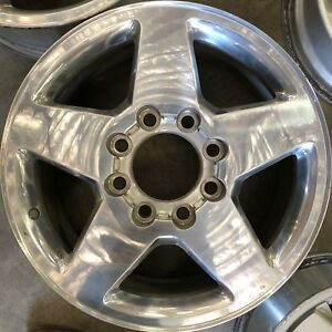 20 Inch 11 18 Chevy Silverado Gmc Sierra 2500 3500 Oem Polished Wheel Rim 5503 B